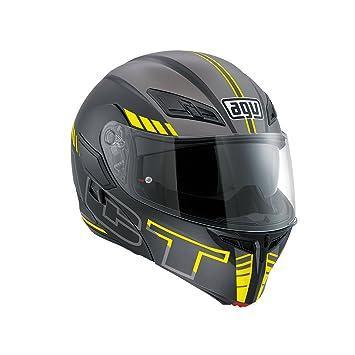 AGV Compact ST E2205 Multi PLK, Seattle Matt Casco de moto, negro/plateado
