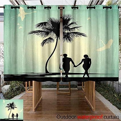 Amazon.com: Onefzc cortina de ojales romántica horizontal ...