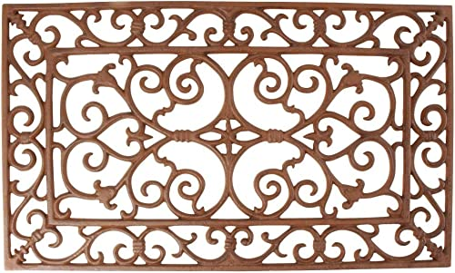 Esschert Design Small Doormat in Antique Brown – Rectangle 24 x 14