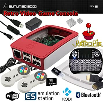 GuruMediaBox 32GB Raspberry Pi 3 RetroPie Retro Game Console