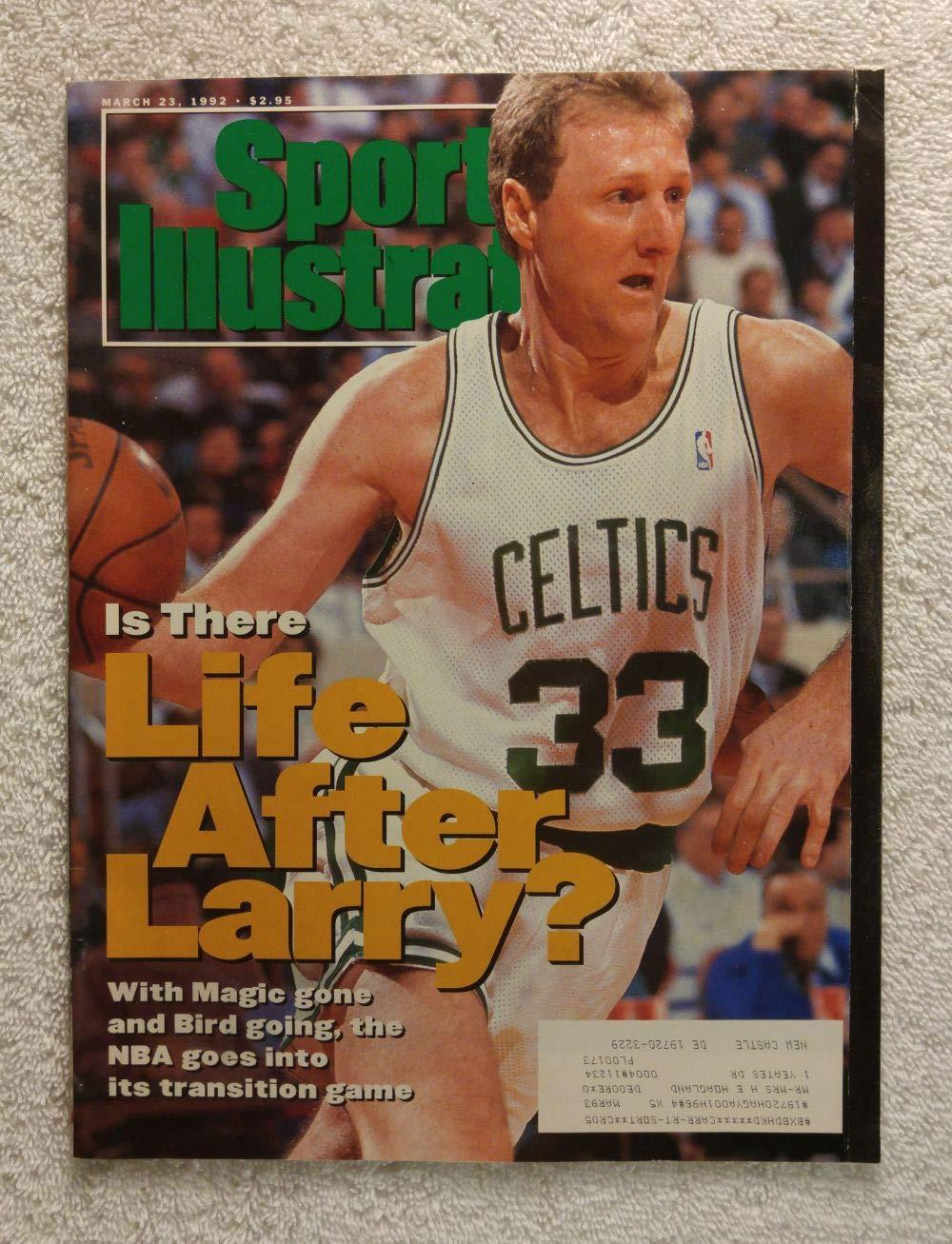 68a2c5944ec22 Larry Bird - Boston Celtics - Sports Illustrated - March 23, 1992 ...