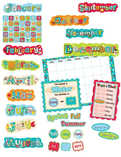 AmazonCom  Creative Teaching Press Dots On Turquoise Calendar Set