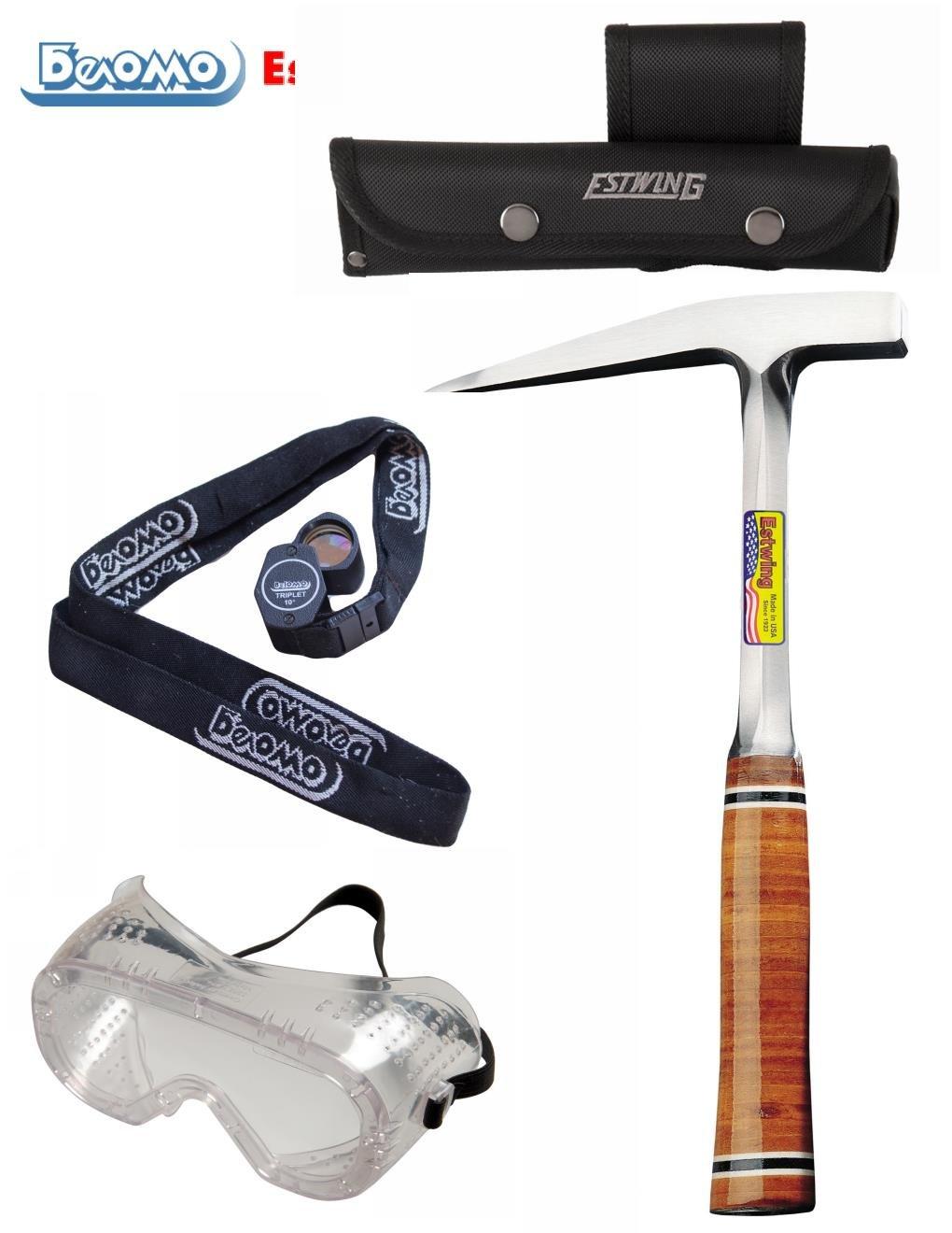 Geologist Field Tools / Rockhound Tool Kit Estwing BelOMO (13 oz Leather Handle)