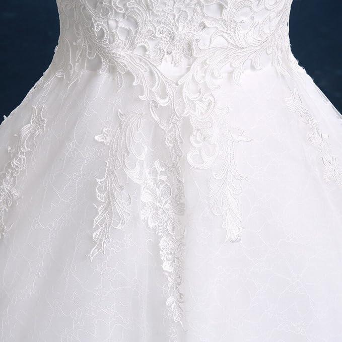 DIDIDD Vestido de Novia Blanco de Novia Qi Di Slim Tama?o Grande Novia Hermosa Novia Vestido de Dama de Honor,UN,S: Amazon.es: Hogar