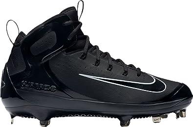 172a4e1c66777 Nike Men's Alpha Huarache Elite Mid Baseball Cleats (7, Black)