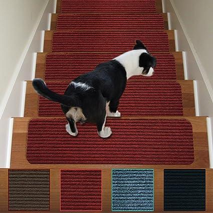 Stair Treads Non Slip Carpet Indoor Set Of 13 Carpet Stair Tread Treads Stair  Rugs
