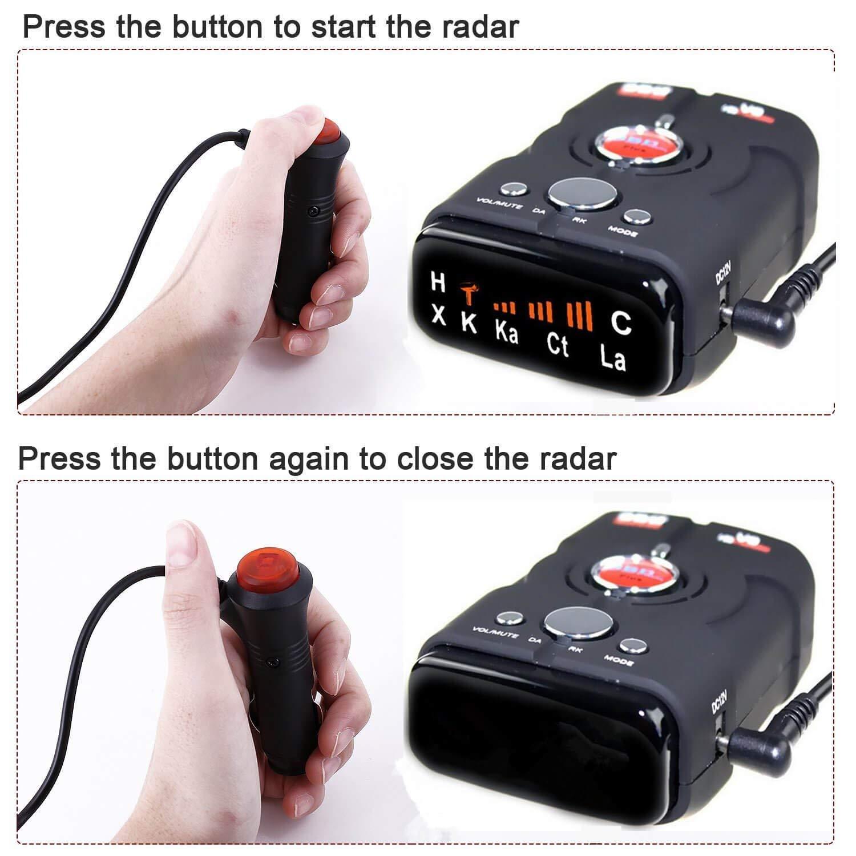 City//Highway Mode radar detector Rilevatori radar per automobili , Maso GPS//radar//laser velocit/à rilevatore di 360/gradi 16/Band V8/Police sicuro di allarme vocale laser