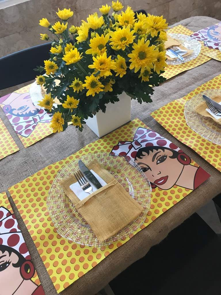 Petunia Disposable Paper Placemats-50 Count multiple design block.Chic & Unique paper placemats for your dining experience/parties/special events/showers.Very easy to clean up/(Table Pop, Bond) by Petunia (Image #5)