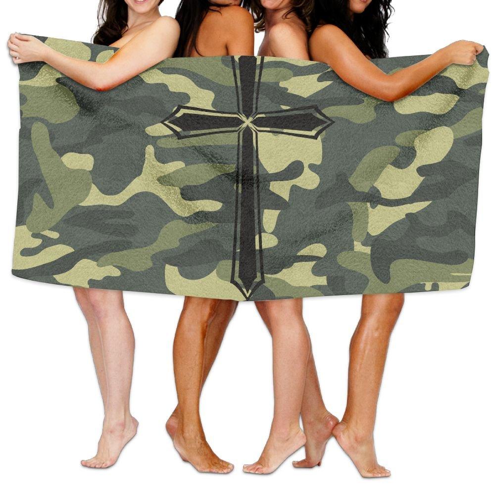 ASZGGQ Christian Jesus Cross Unisex Fashion Towel Personalized Print Beach Towels