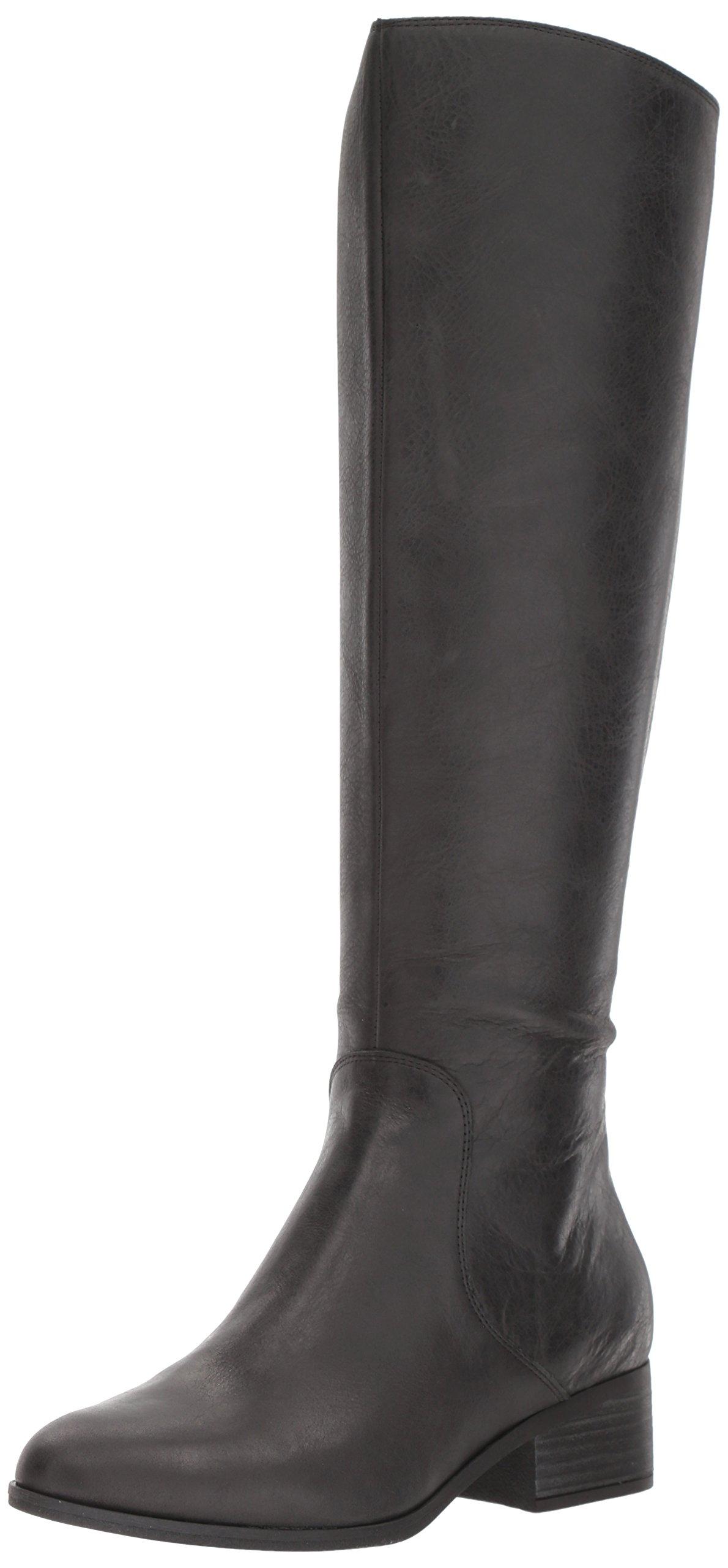 Lucky Women's LK-Lanesha Equestrian Boot, Black, 8.5 Medium US