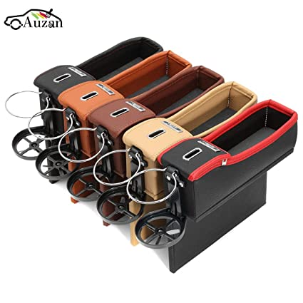 Car Seat Driver Storage Box Catcher Gap Filler Coin Collector Cup Holder Coffee