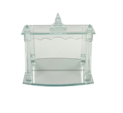 15763f3f4e35 Buy Sophiya Handicraft Home And Décor Glass Temple in White Colour Online at  Low Prices in India - Amazon.in