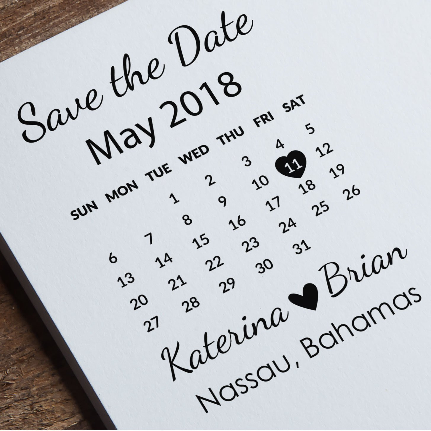 Amazoncom Save The Date Stamp Calendar Stamp Custom Wedding