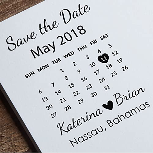 save the date stamp calendar stamp custom wedding stamp invitations stamp diy