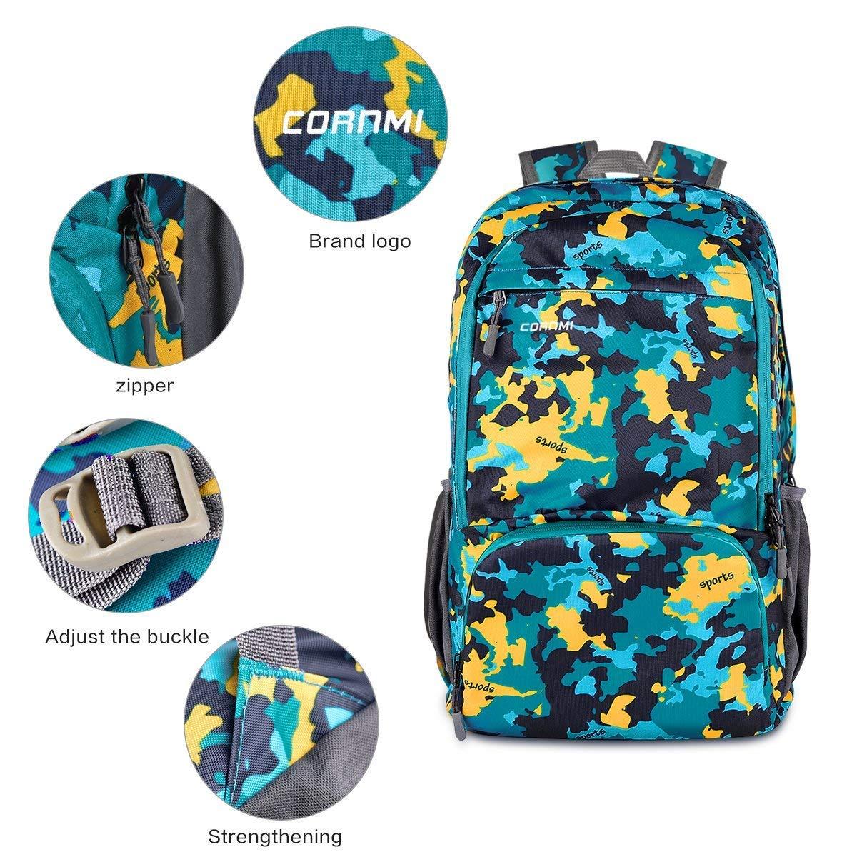 Outdoor Backpack Hiking Backpack Waterproof Foldable Travel Bag Daypack Bag for Beach//Camping//Trip//School//Sport//Mountaineering