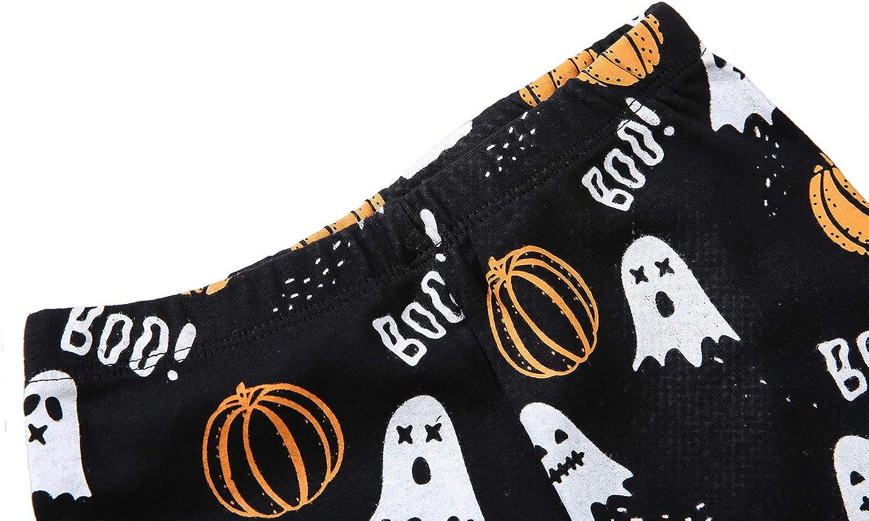 Boy Pajamas Set Long Sleeves Snug-Fit 2 Piece Kid PJS Sets 100/% Cotton Toddler Sleepwear Halloween Pumpkin, 6 Tall