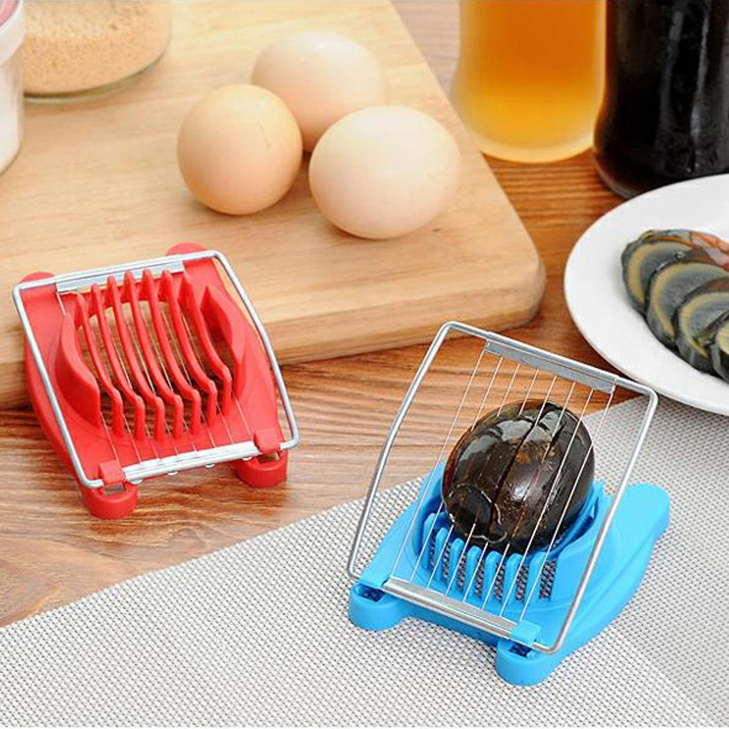 Fikole Cook Multipurpose Stainless Steel Wires Egg Slicer Kitchen Eggs Cutter Tool Utility Knives by fikole (Image #2)