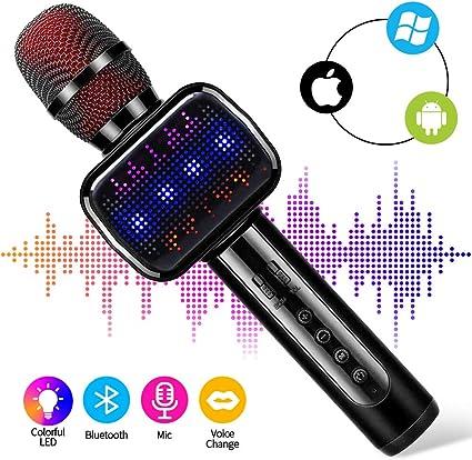 Wireless Microphones Wireless Bluetooth Karaoke Microphone 4 in 1 ...