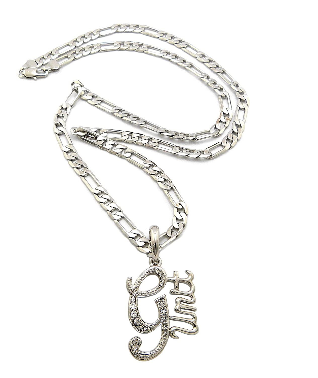 Amazon.com: New Iced Out G-UNIT Pendant &5mm/24\