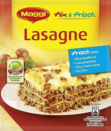 Maggi fix  Maggi fix & frisch für Lasagne, 36er Pack (36 x 45 g): Amazon.de ...