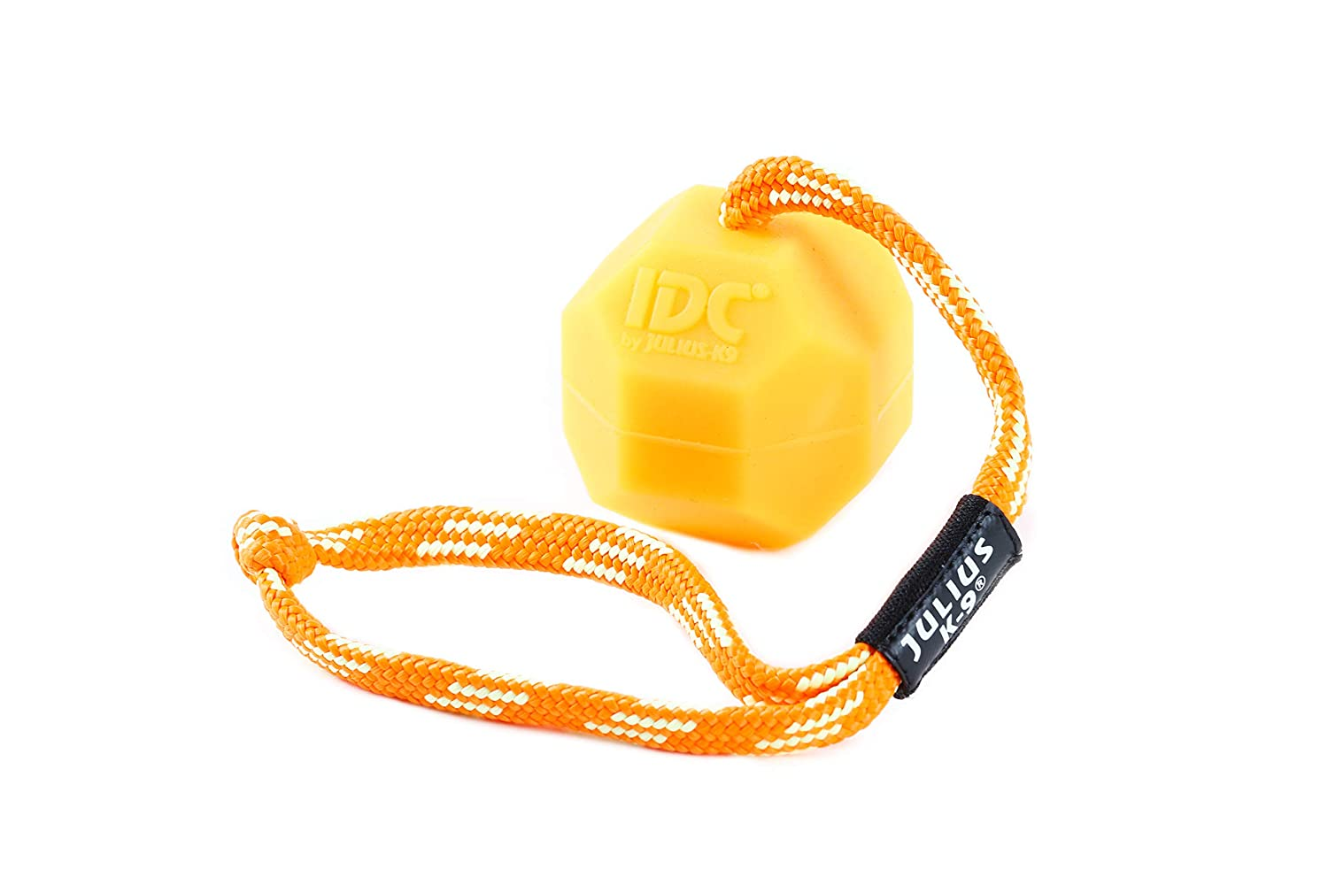 Julius-K9 242-BLL-60-ORW Smooth orange Soft Fluorescents Ball with String diam.60mm