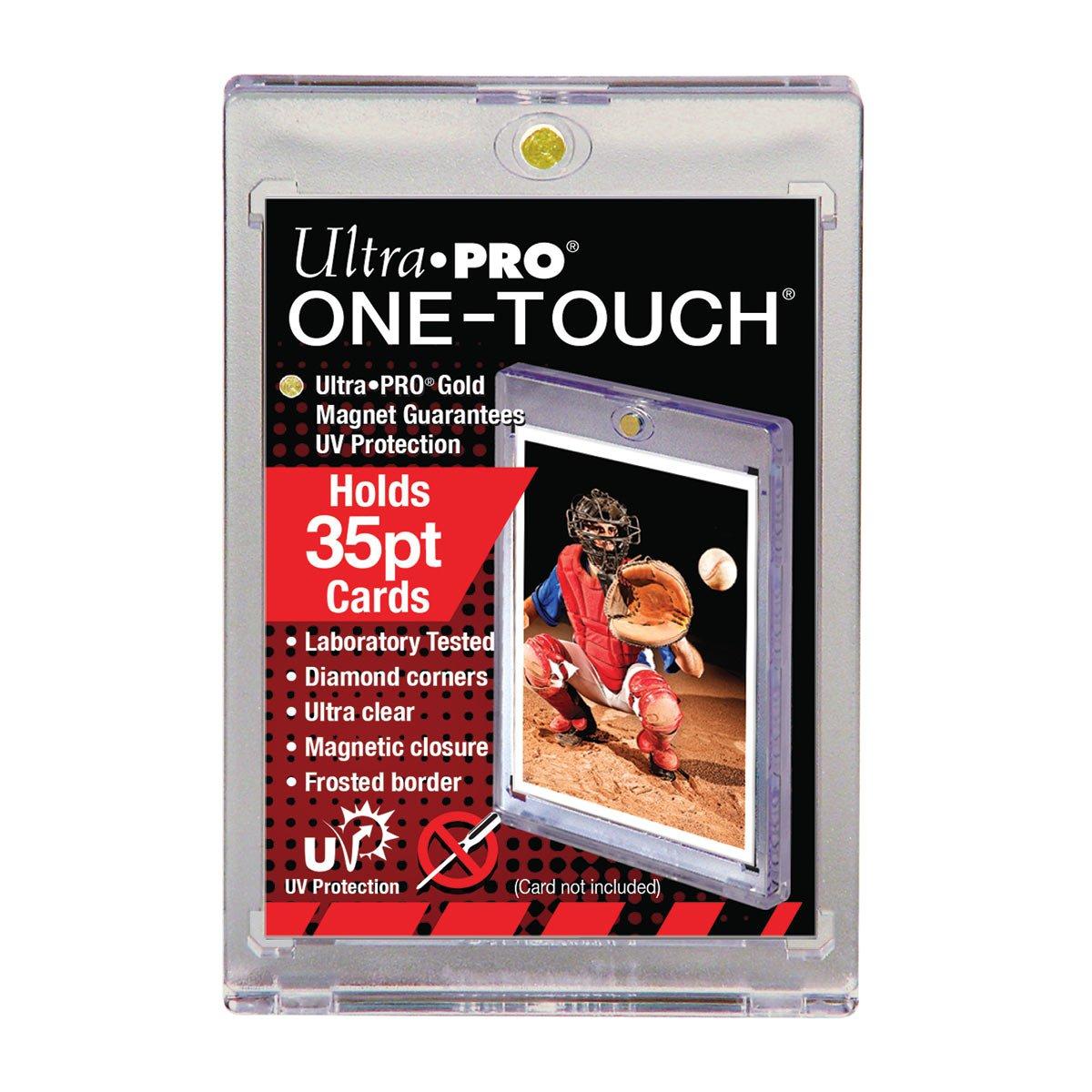 Holds Regular Baseball Football Hockey Cards 10 Ultra Pro 35pt Magnetic Card Holder Cases