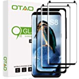 Galaxy S8 Screen Protector Tempered Glass (2 Pack), OTAO 3D Curved Dot Matrix Glass Screen Protector for Samsung Galaxy…