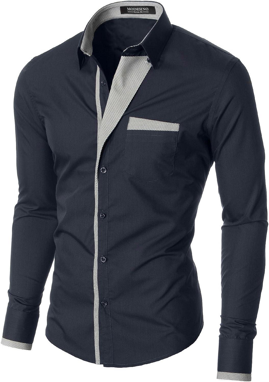 MODERNO - Camisa Casual Manga Larga para Hombre (VGDS41LS): Amazon.es: Ropa y accesorios