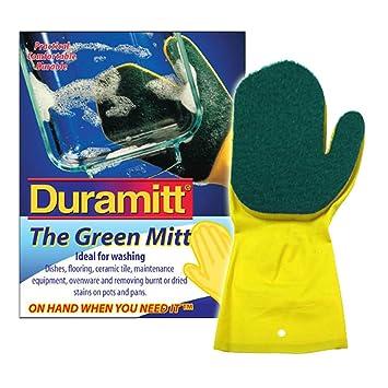 Duramitt - el verde guantes - Guantes de limpieza para lavar los platos a, de