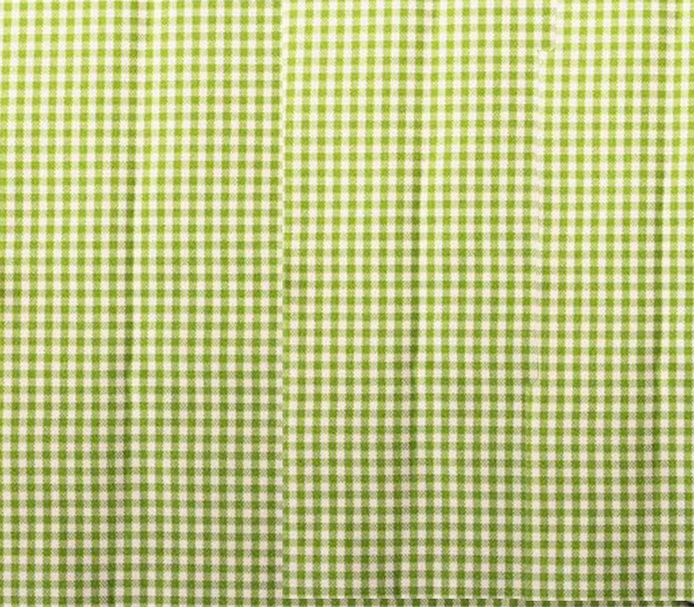 """Poly Poplin Gingham Fabric Mini Checkers 58"""" Wide Sold by The Yard (Apple Green)"""