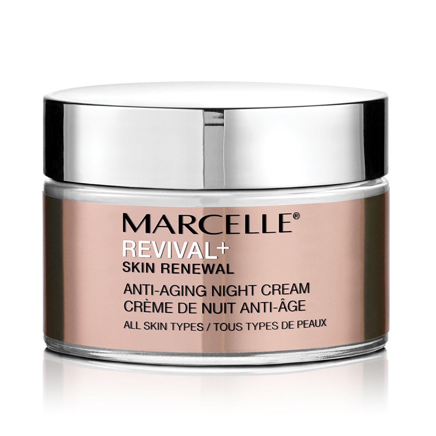 Marcelle Revival+ Skin Renewal Anti-Aging Night Cream, Hypoallergenic and Fragrance-Free, 50 mL Marcelle group - Beauty