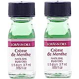 LorAnn Crème de Menthe Super Strength Natural Flavor, 1 dram bottle (.0125 fl oz - 3.7ml) - 2 pack