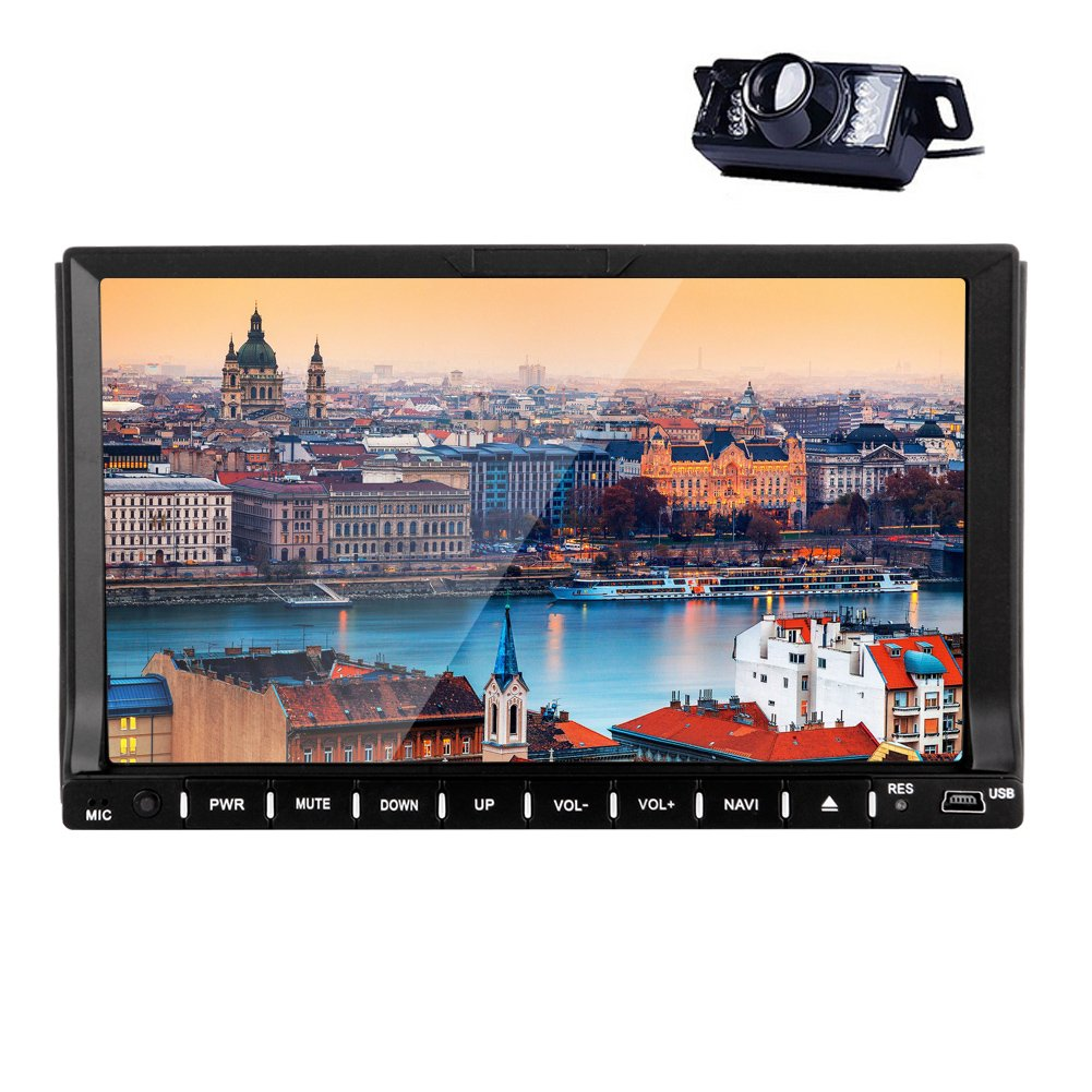 Newest Car Stereo In Dash 7'' Android 4.4 Capacitive Touchscreen Car DVD Player Bluetooth mirror Linking with cellphone FM/AM Radio Wifi Car GPS Navigation +Free Back Camera