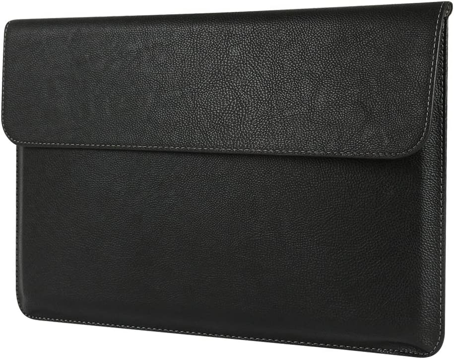 Megoo Surface Book 2/3 15 Inch, Leather Sleeve Case for Micosoft Surface Book 2/3 15 inch-Black