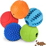 Slopehill 5 Interactive Dog Toys Balls for Small Medium Large Dogs, Dog Puzzle Toys for Boredom, Durable Squeaky Balls IQ Tre