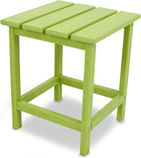 """product image for POLYWOOD ECT18LI Long Island 18"""" Side Table, Lime"""