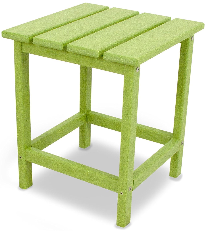 """POLYWOOD ECT18LI Long Island 18"""" Side Table, Lime"""