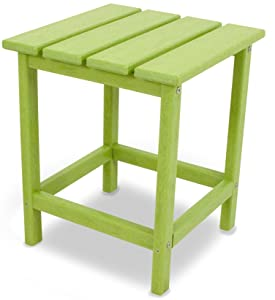"POLYWOOD ECT18LI Long Island 18"" Side Table, Lime"