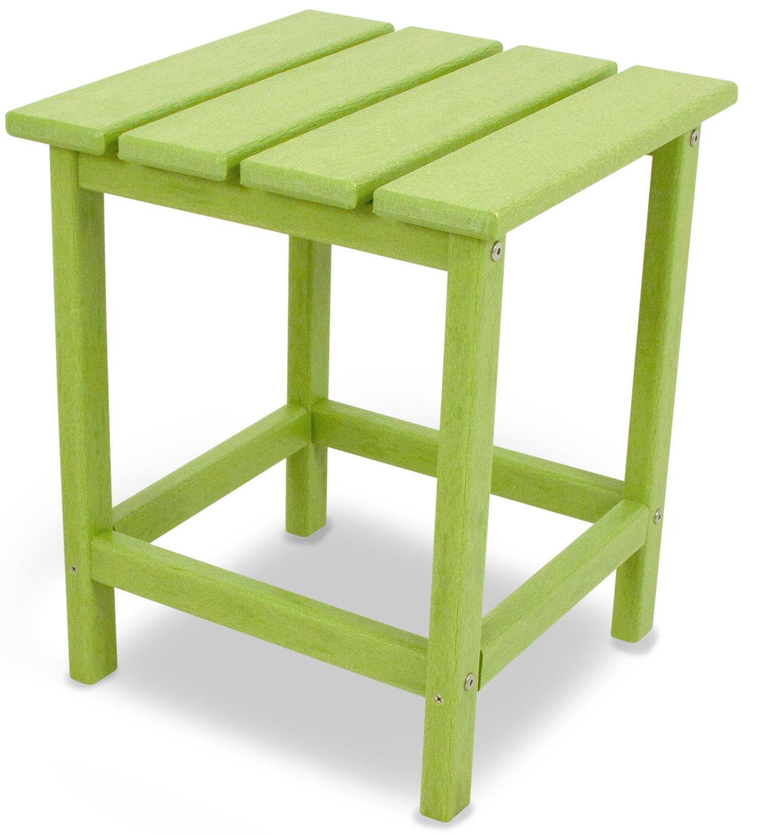 POLYWOOD ECT18LI Long Island 18'' Side Table, Lime