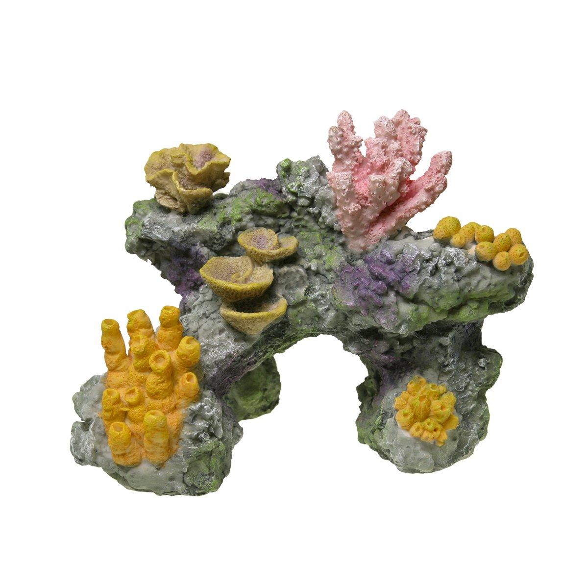 Medium bluee Ribbon EE-1741 Exotic Environments Coral Reef Rock Aquarium Ornament