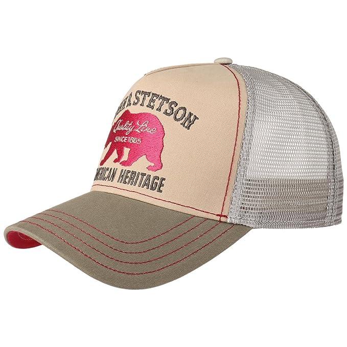 Stetson Gorra JBS-Bear Trucker Hombre | de Malla Beisbol Snapback Cap Snapback, con Visera Verano/Invierno | Talla única Beige: Amazon.es: Ropa y accesorios