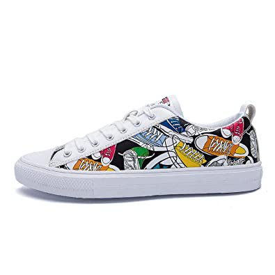 a2e2e1dd7fe7 Sneaker trainers Low top pumps graffiti men  s shoes summer net breathable  board shoes casual