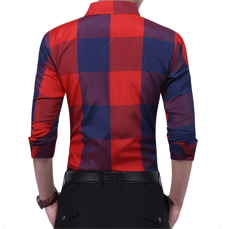 Swimblue NEW Design Man Casual Shirts Hipster Tops Short Sleeve Shirts Plaid Shirts Shirt Autumn Male Work Wear plus size 3XL