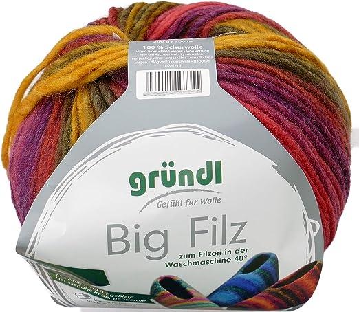 theofeel Gründl Big Filz Color 03 - Ovillo de Lana de Fieltro ...