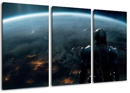 Triptych Canvas Wall Art Print, Mass Effect Design, Total Size 120 ...