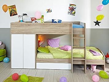 Jugendbett Etagenbett : Etagenbett mit schrank neu doppelstockbett doppelbett