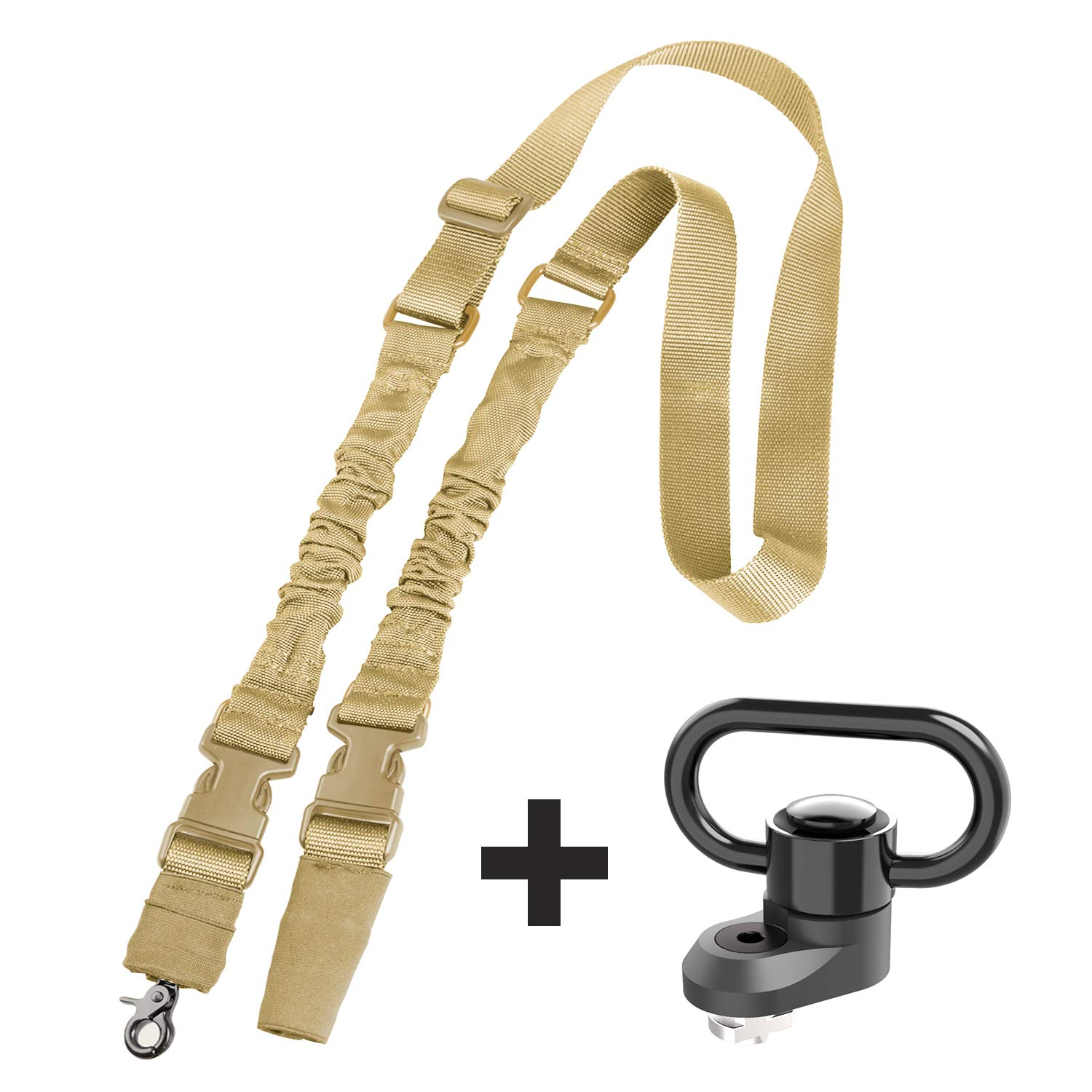 Tough Tactical Tools M-LOK(R) Standard QD Sling Swivel Adapter, Rail Mount with 2 Point Gun Sling for Hunting Shooting or Other Outdoor Sports (QD Minimum) by Tough Tactical Tools