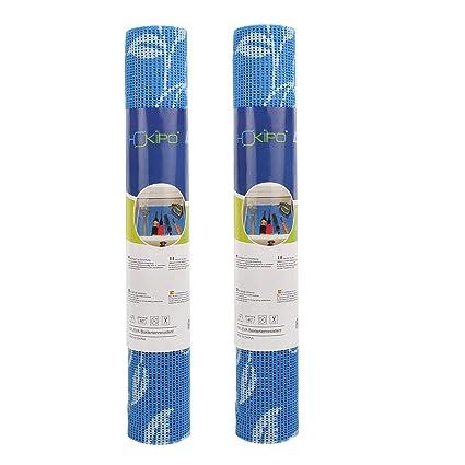 HOKIPO PVC Flower Pattern Shelf Liner for Cupboards, 30 x 150 cm -Set of 2