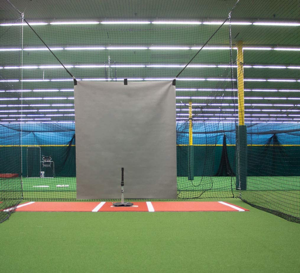 5 x 6 Heavy Duty Vinyl Baseball Batting Cage Backstop - (Gray) by Garage Batting Cage Company