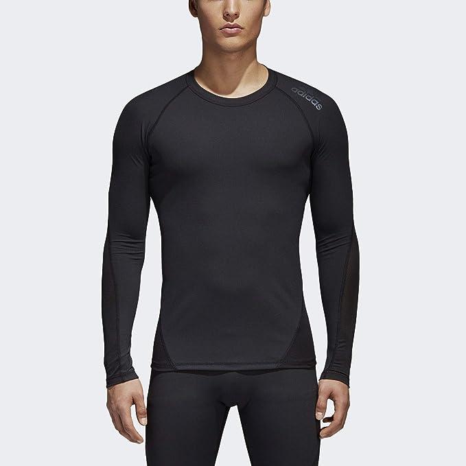 607eaa3cc adidas Men's Training Alphaskin Sport Long Sleeve Tee, Black, X-Small